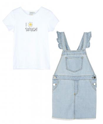 ست تیشرت و سارافون جین دخترانه جین وست Jeanswest کد 02642505