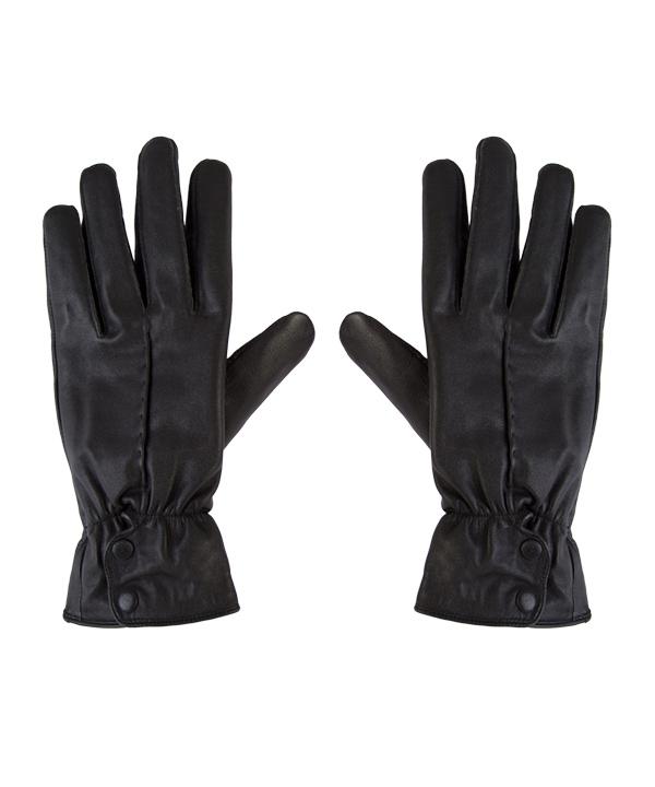 دستکش چرم مردانه مشکی چرم مشهد کد R0527 |