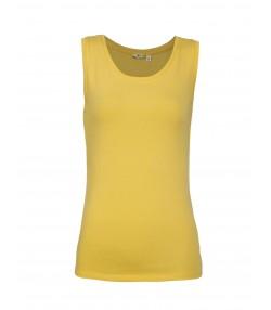 تیشرت آستین حلقه ای زرد