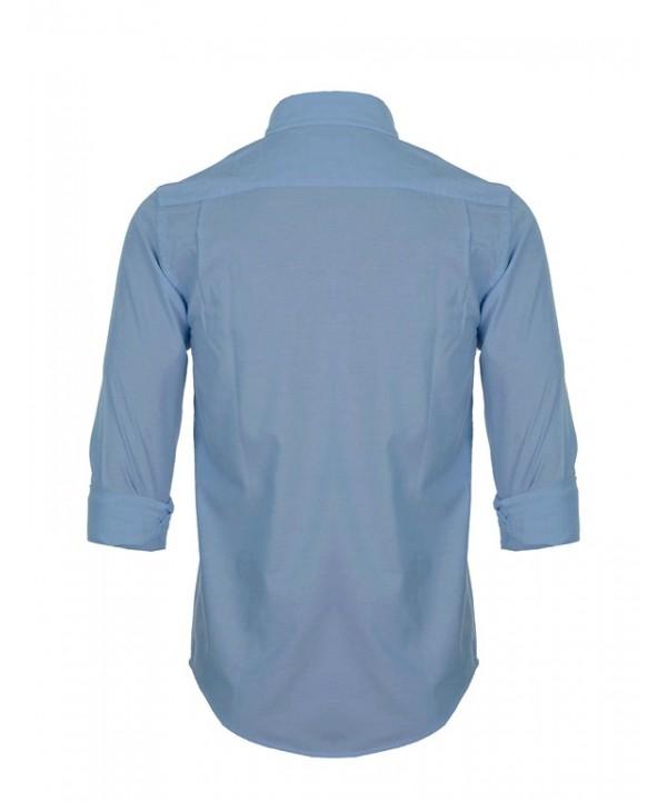 پیراهن مردانه آستین بلند آبی تیره
