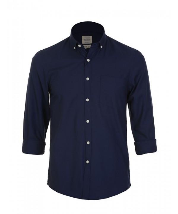پیراهن مردانه آستین بلند سرمه ای