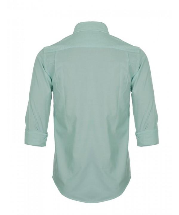 پیراهن مردانه آستین بلند سبز صابونی