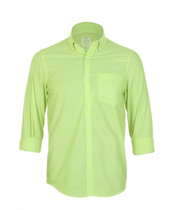 پیراهن مردانه آستین بلند سبز روشن
