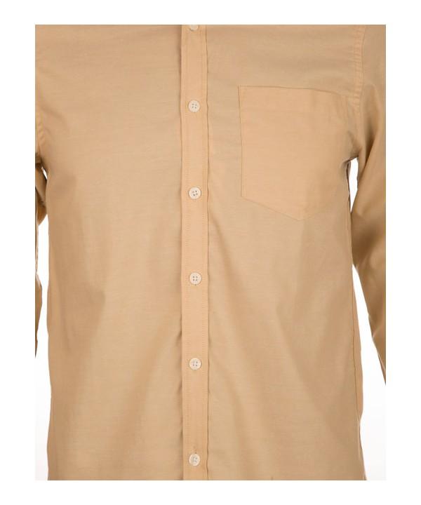 پیراهن مردانه آستین بلند خاکی