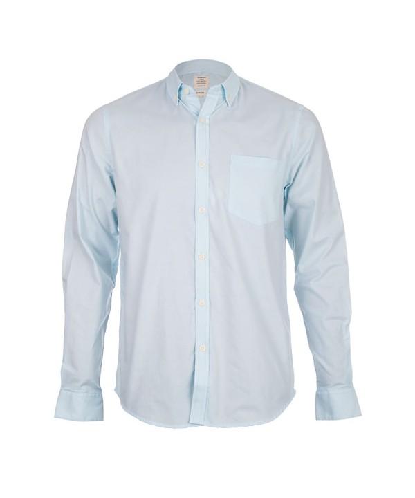 پیراهن مردانه آستین بلند آبی روشن