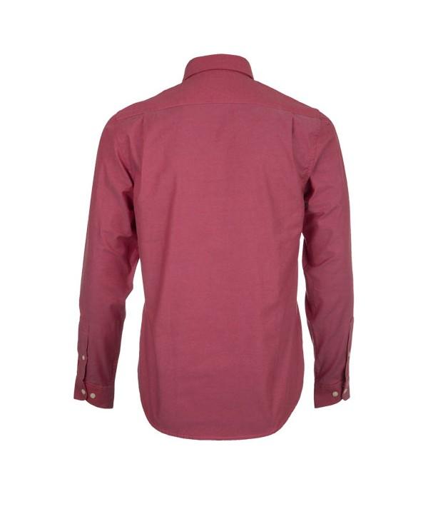 پیراهن مردانه آستین بلند زرشکی
