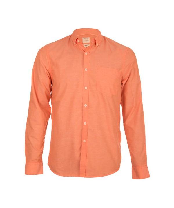 پیراهن مردانه آستین بلند نارنجی