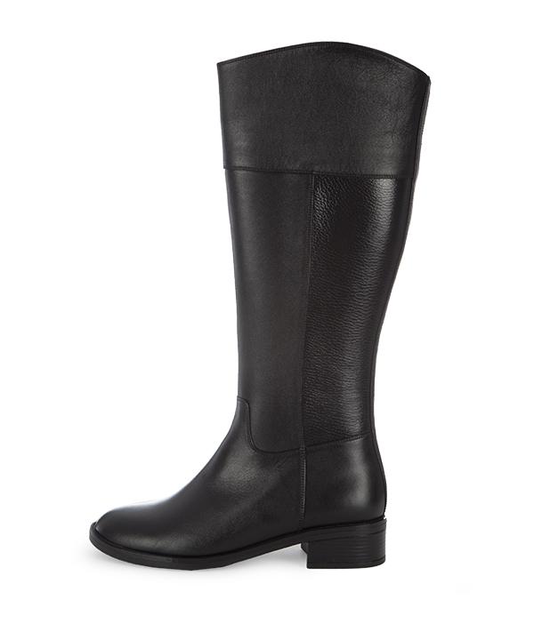 بوت چرم زنانه مشکی چرم مشهدMashhad leather مدل J2283