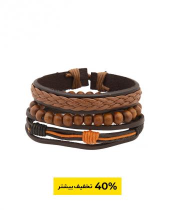 دستبند چرم بافت مردانه جوتی جینز Jootijeans