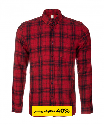 پیراهن چهارخانه مردانه جوتی جینز JootiJeans