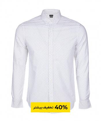 پیراهن مردانه سفید جوتی جینز JootiJeans