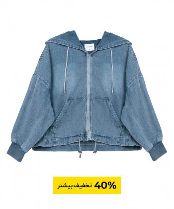 سویشرت جین زنانه جین وست Jeanswest کد 01222552