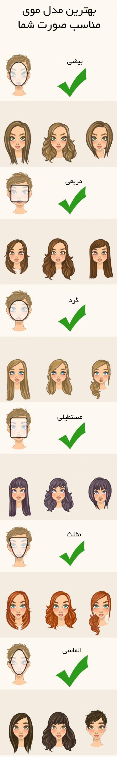 مدل مو متناسب با صورت