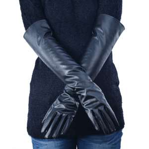new-women-s-40-45-50-cm-long-pu-leather-gloves-evening-party-winter-lined-gloves