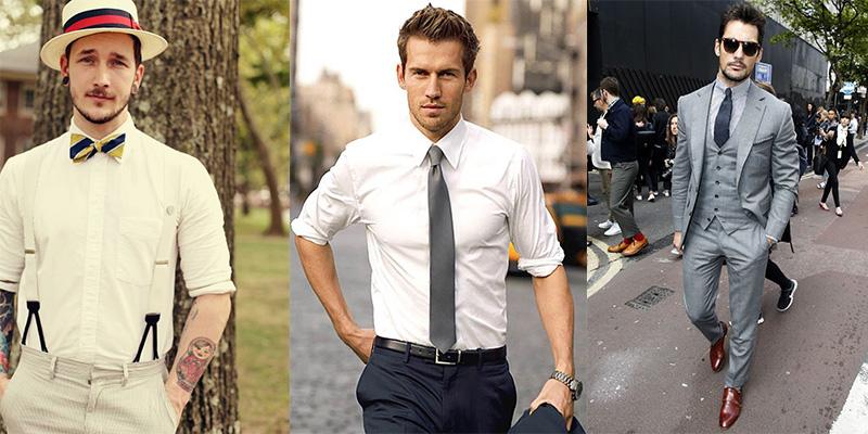 wearing tie man