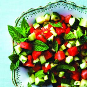 هندوانه خیار نعنا