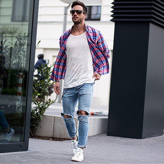 ترکیب تی شرت و پیراهن مردانه