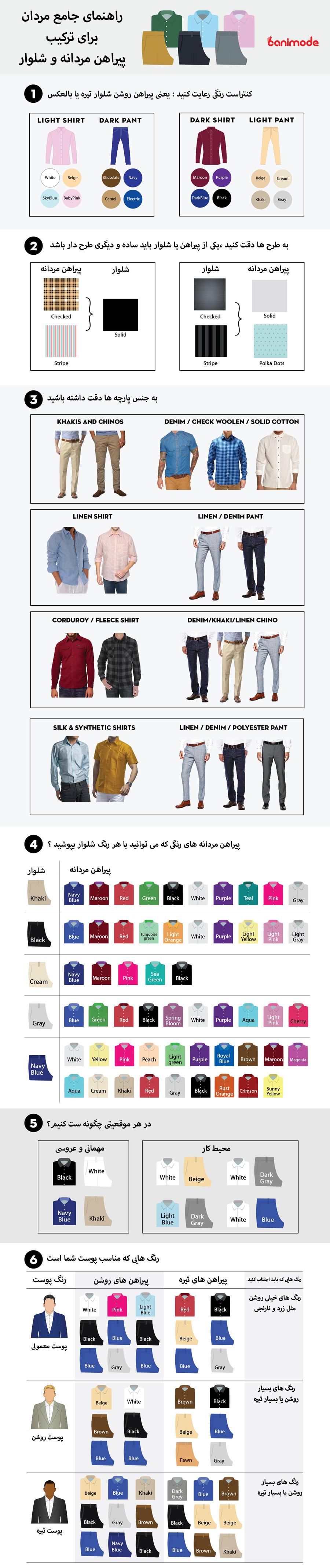 راهنمای ست کردن پیراهن مردانه و شلوار