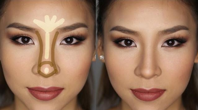 کوچک کردن بینی با آرایش