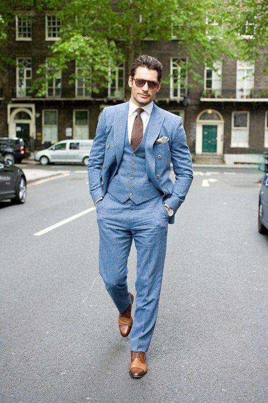 استایل آبی برای مردان