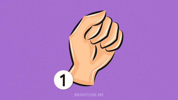 چگونه دست خود را مشت می کنید