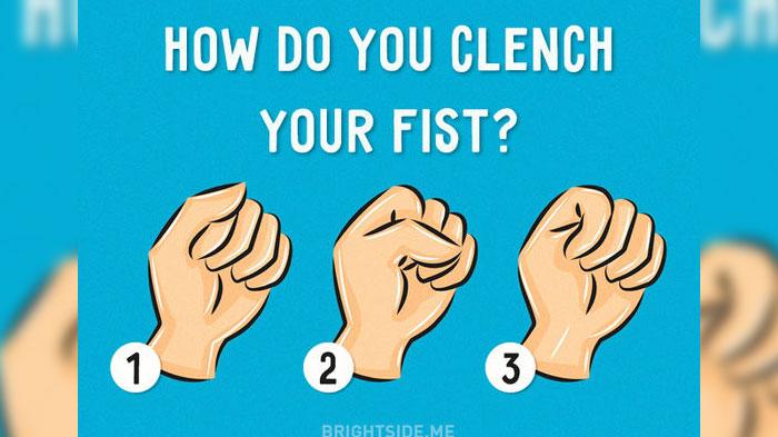 شخصیت شناسی از طریق نحوه مشت کردن دست