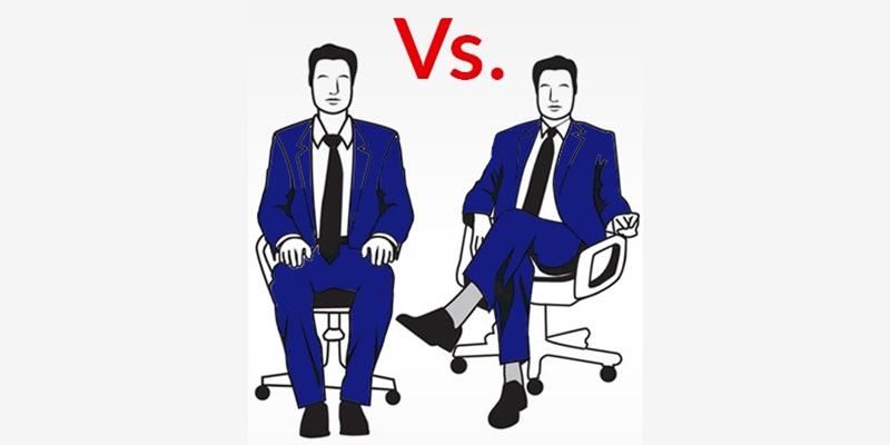 مدل های مختلف نشستن مردان