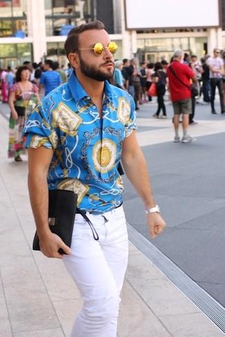 blue-short-sleeve-shirt-white-jeans-gold-sunglasses-large-4309