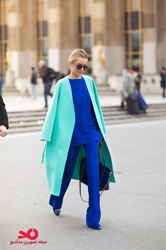 ست لباس آبی