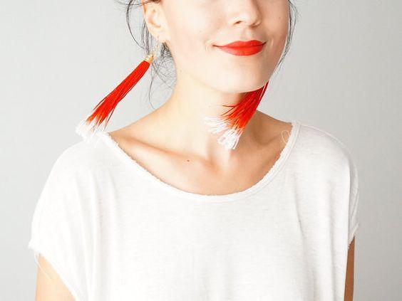 گوشواره فرینجی ریش ریشی
