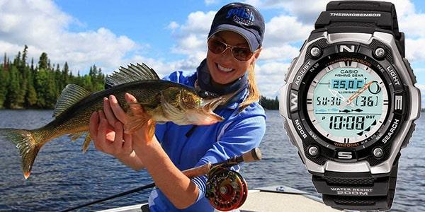 زمان ماهیگیری در ساعتهای کاسیو