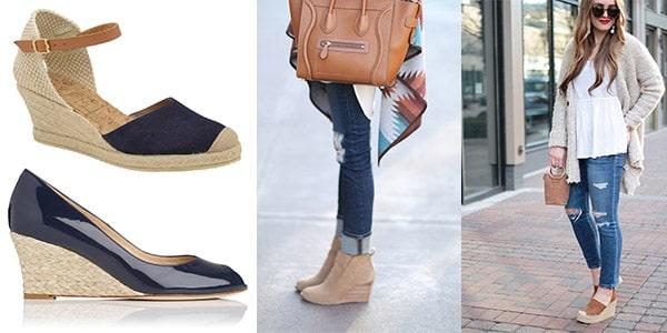 انواع کفشهای کژوال زنانه : کفش پاشنه یکسره
