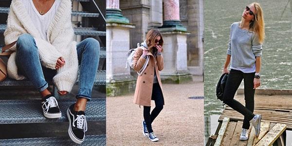 انواع کفشهای کژوال زنانه : کفش آل استار یا کانواس