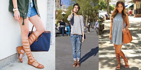 انواع کفش کژوال زنانه : صندل گلادیاتوری