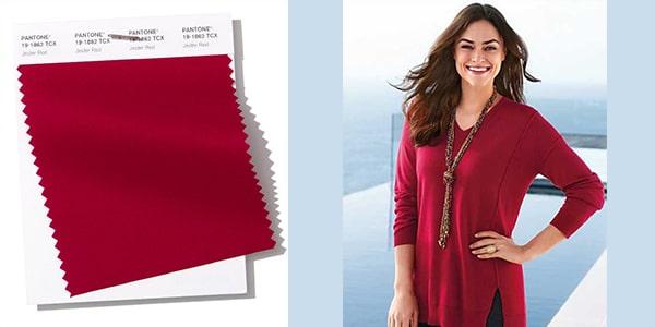 رنگ سال 2019 پنتون : رنگ بهاری شماره 2 : گیلاسی Jester red