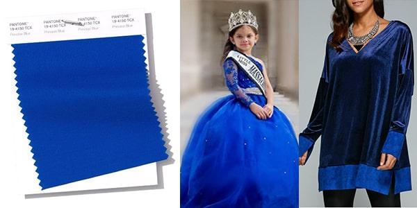 رنگ سال 2019 پنتون : رنگ بهاری شماره 8 : آبی پرنسسی Princess Blue