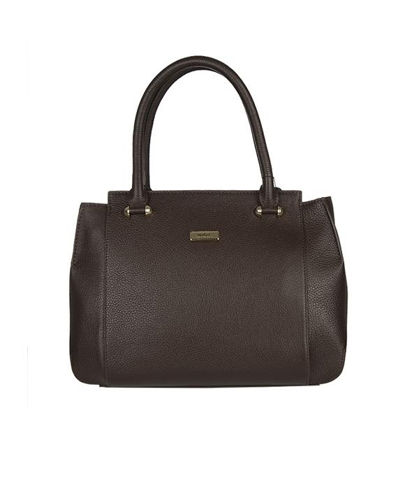 کیف دستی زنانه مارال چرم قهوه ای
