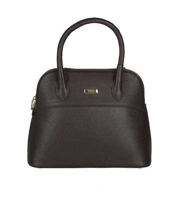 کیف دستی زنانه مارال چرم قهوه ای مدل بولینگ