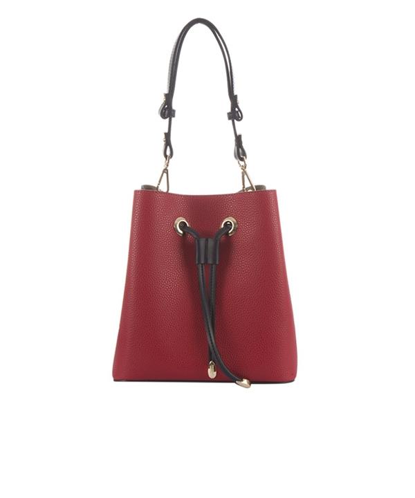 کیف خورجینی زنانه قرمز برتونیکس