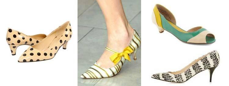 انواع کفش پاشنه بلند : مدل Kitten Heels