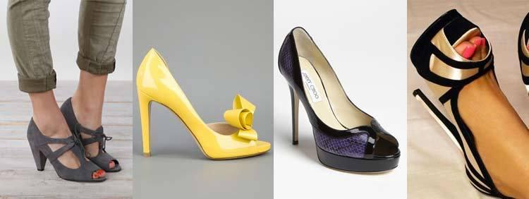 انواع کفشهای پاشنه بلند : مدل جلو باز