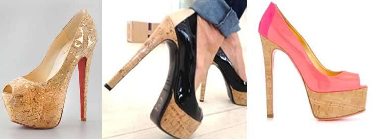 کفش پاشنه بلند مدل چوب پنبهای Cork High Heels