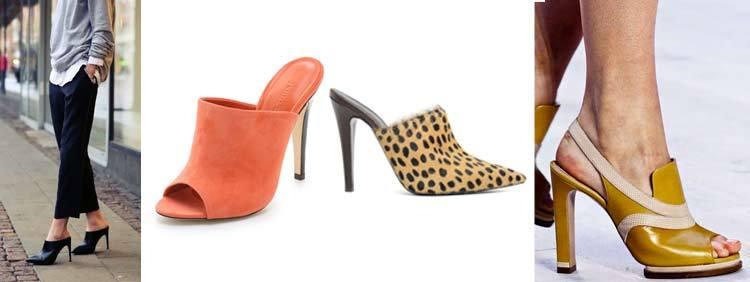 کفش پاشنه بلند مولز