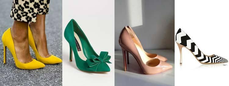 انواع کفش پاشنه بلند : مدل پامپ Pumps