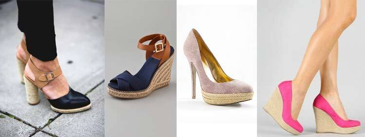 کفش پاشنه بلند مدل اسپادریل  مدل Espadrille Heels