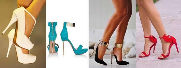 انواع کفشهای پاشنه بلند : مدل بند دور مچ Ankle Strap Heel