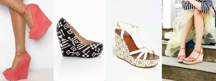 انواع کفشهای پاشنه بلند : مدل پاشنه یکسره Wedge Heels