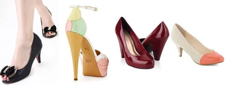 انواع کفشهای پاشنه بلند : مدل پاشنه مخروطی Cone Heels