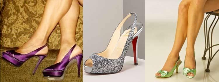 انواع کفشهای پاشنه بلند : مدل پشت بندی Sling Back Heels