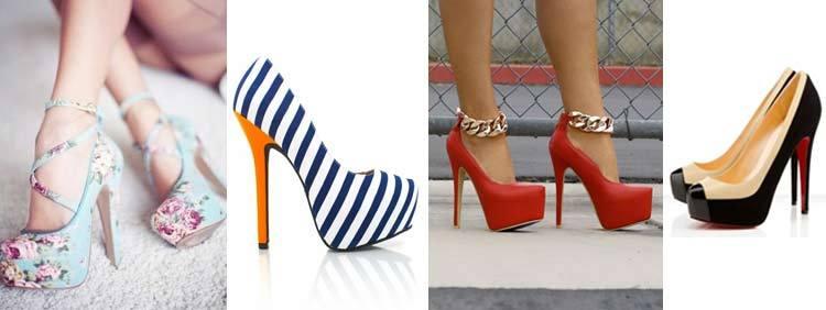 انواع کفشهای پاشنه بلند : مدل لژ دار Platform Heels